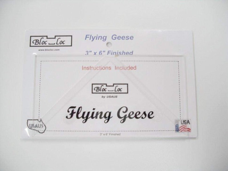 "Bloc_Loc 3""x6"" Flying Geese Square Up Ruler"