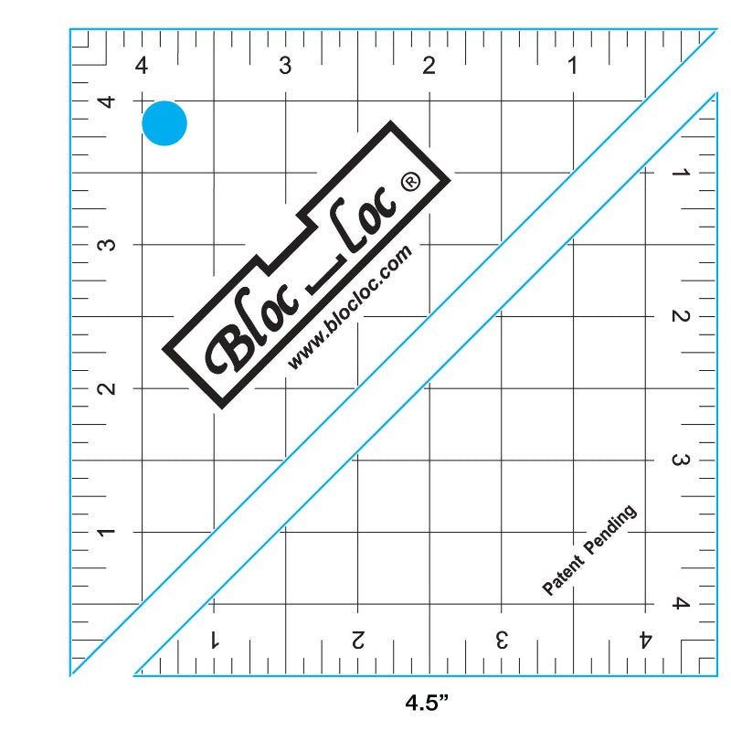 Bloc_loc Half Square Triangle Ruler 4.5""