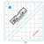 "Bloc_Loc 4.5"" Half Square Triangle Square Up Ruler"