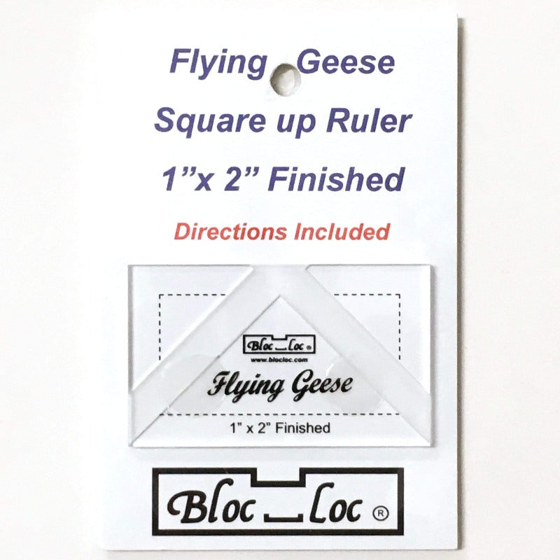 "Bloc_Loc 1""x2"" Flying Geese Square Up Ruler"