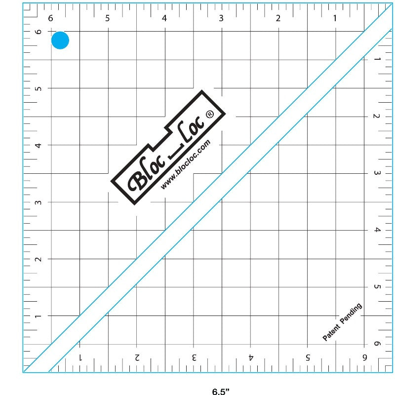 "Bloc_Loc 6.5"" Half Square Triangle Square Up Ruler"