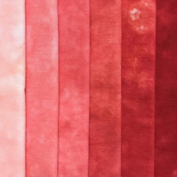 Coral - Solid Hand Dyed Fabric Bundle
