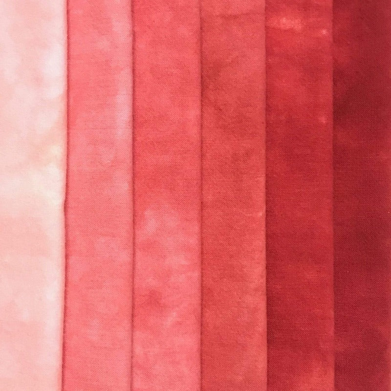 Coral - Textured Hand Dyed Fabric Bundle
