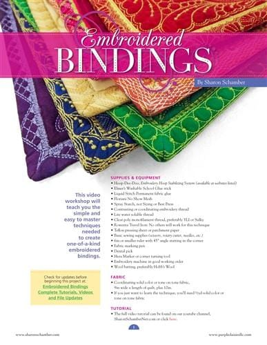 Embriodered Bindings