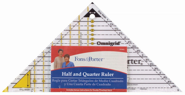 Half & Quarter Square Ruler by Fons & Porter