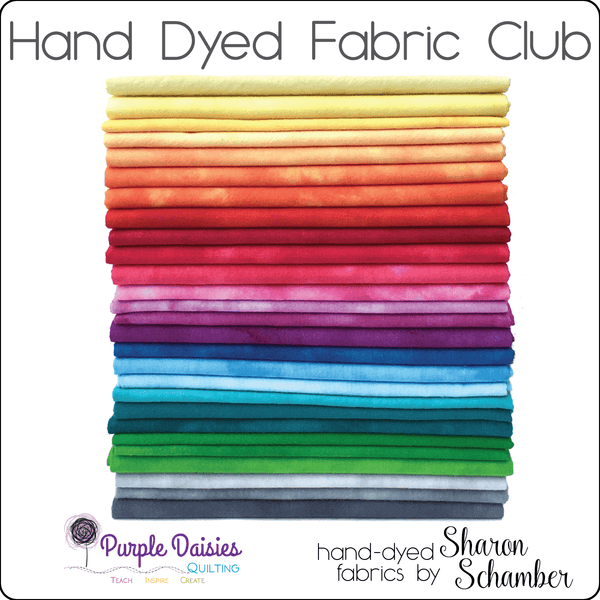 Hand Dyed Fabric Club - December