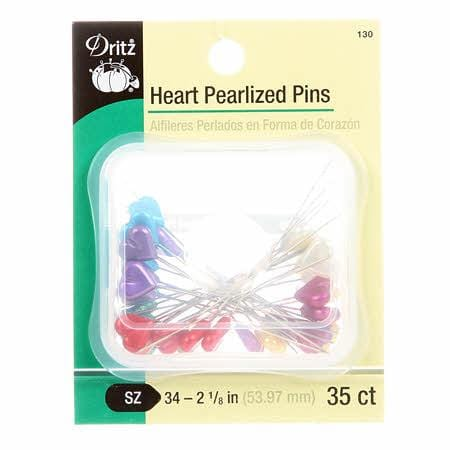 Heart Pearlized Pins