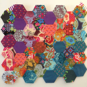 Machine Pieced Hexagons