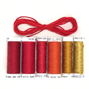 Scarlet - Hand Dyed Fabric Bundle