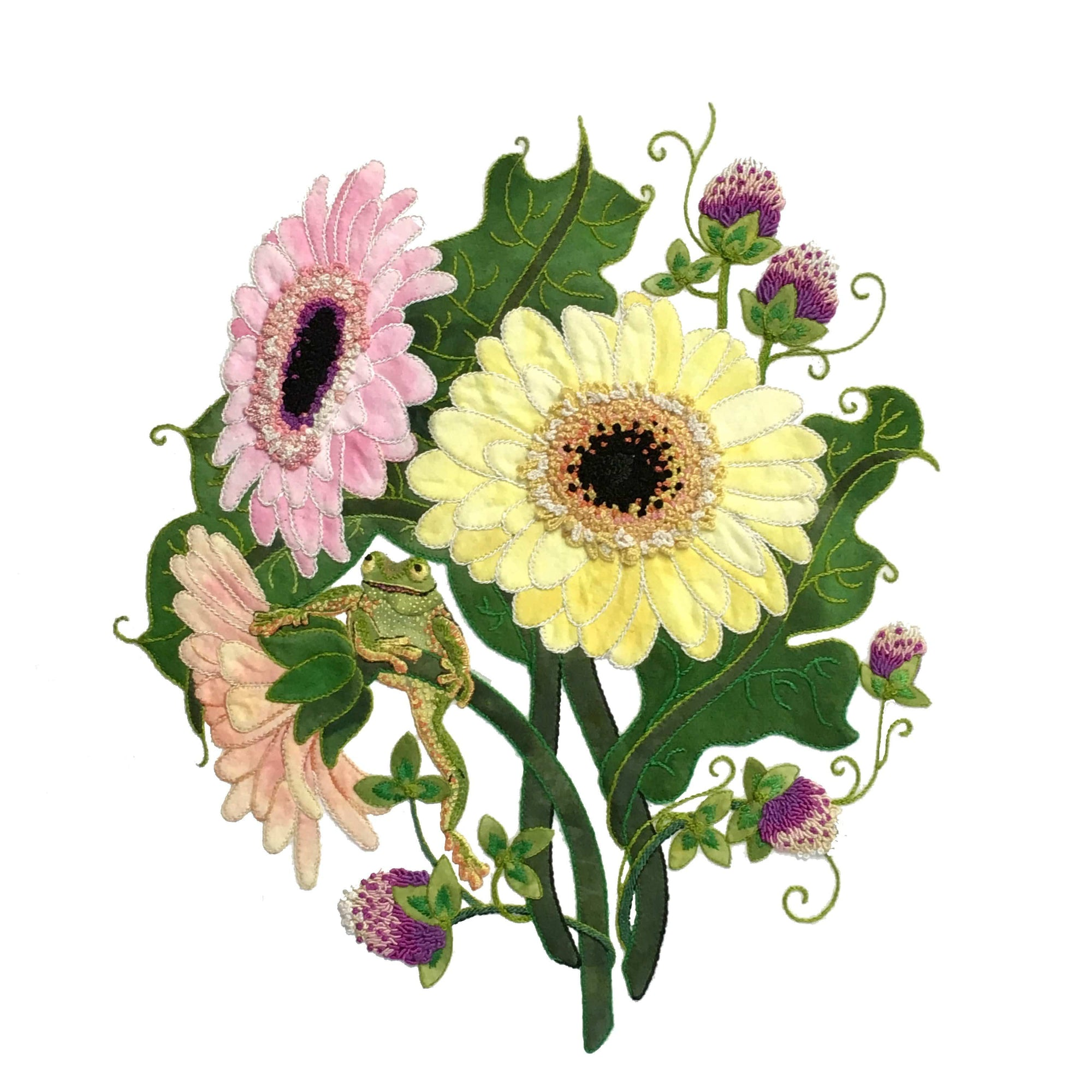 Pastel Daisies - Applique Pattern