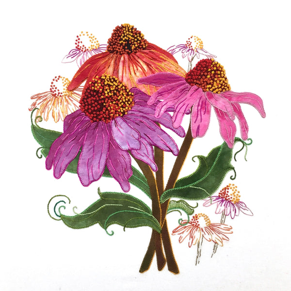 Pink Coneflower - Applique Pattern