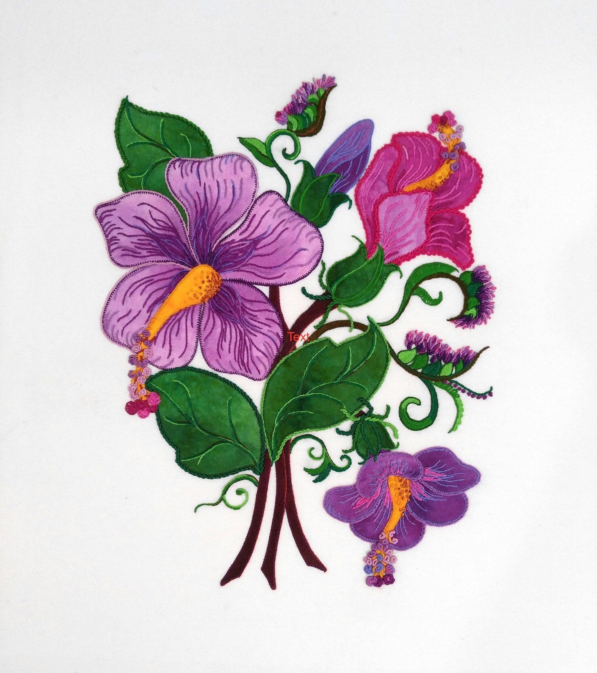 Purple Hibiscus - Applique Pattern