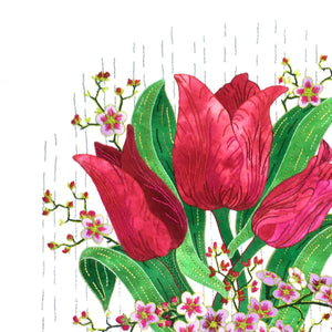Red Tulips - Applique Pattern