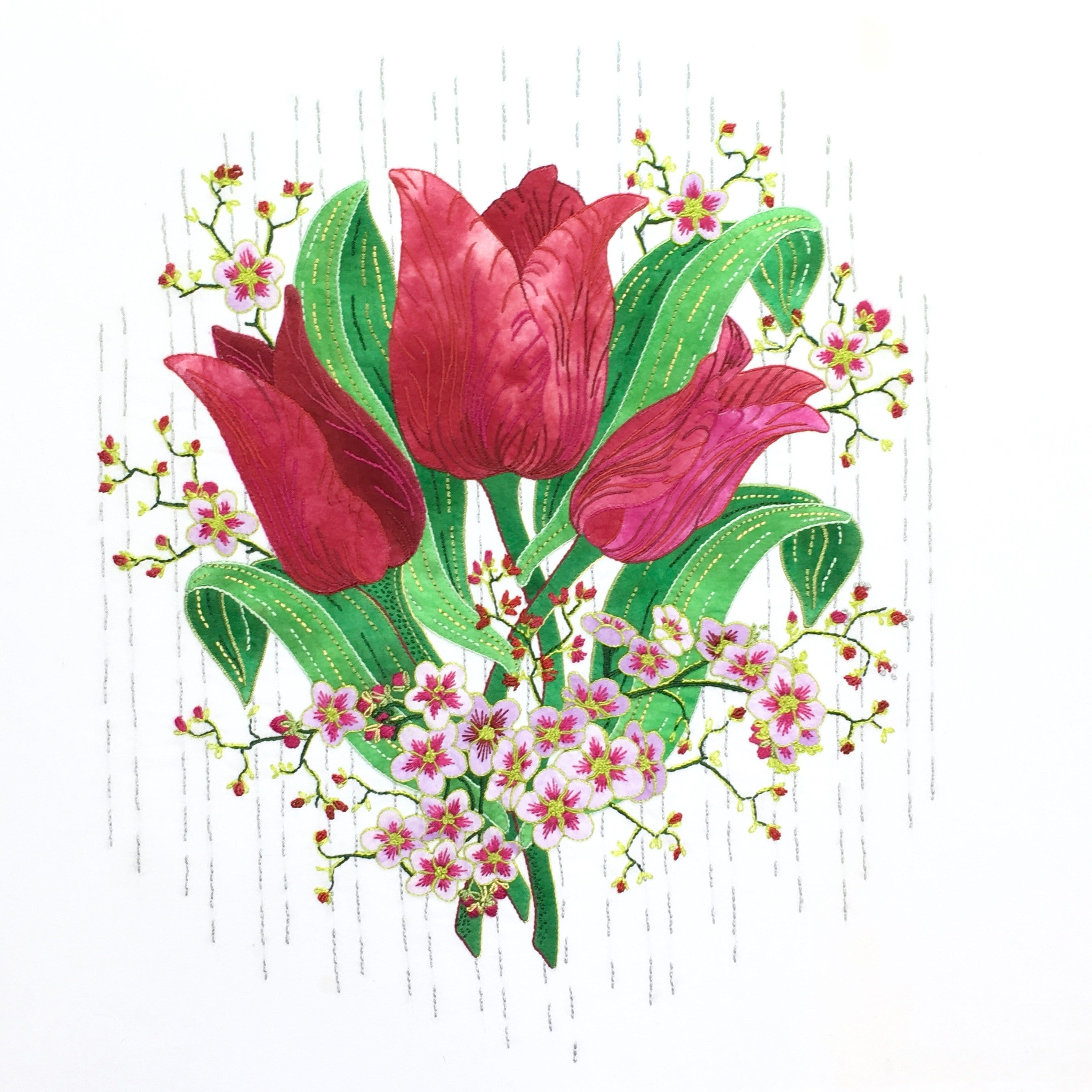 Applique Tulips from different materials