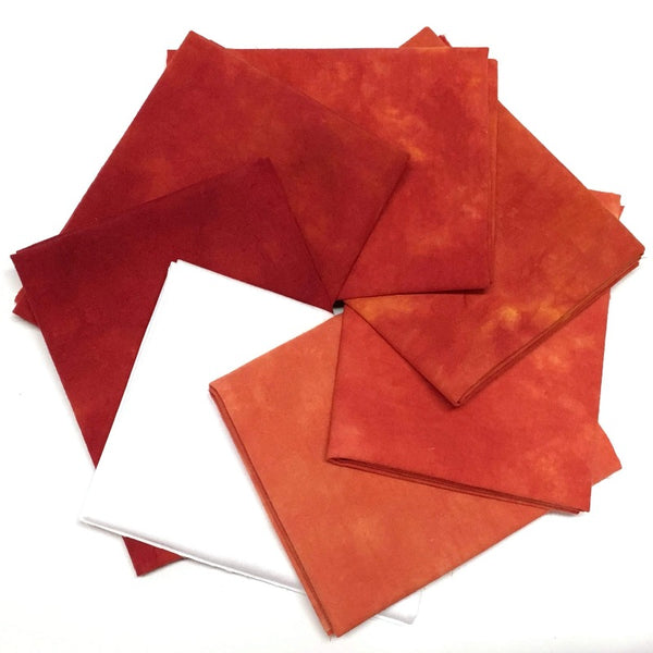Deep Orange - Hand Dyed Fabric Bundle