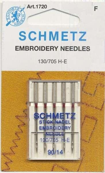 Schmetz Machine Embroidery Needles Size 90/14