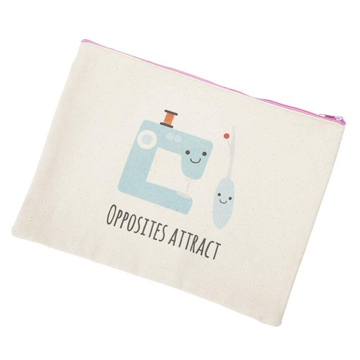 Opposites Attract - Canvas Zipper Pouch