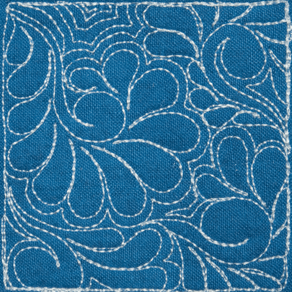 Domestic Quilting Templates : Longarm Stipples of Mother Earth #4 - Purple Daisies Quilting