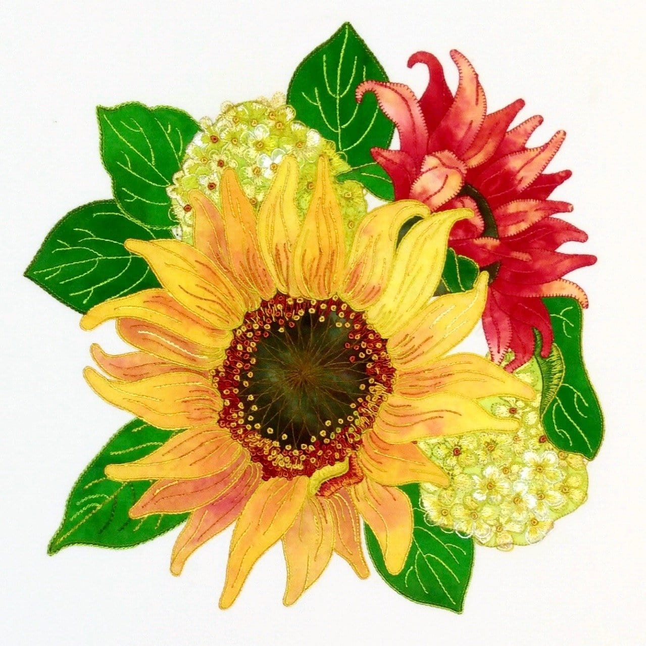 Yellow Sunflower - Applique Pattern
