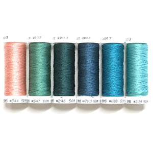Teal Lilies - Soie 100/3 Thread Collection