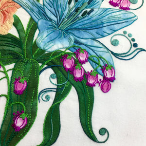 Teal Lilies - Applique Pattern