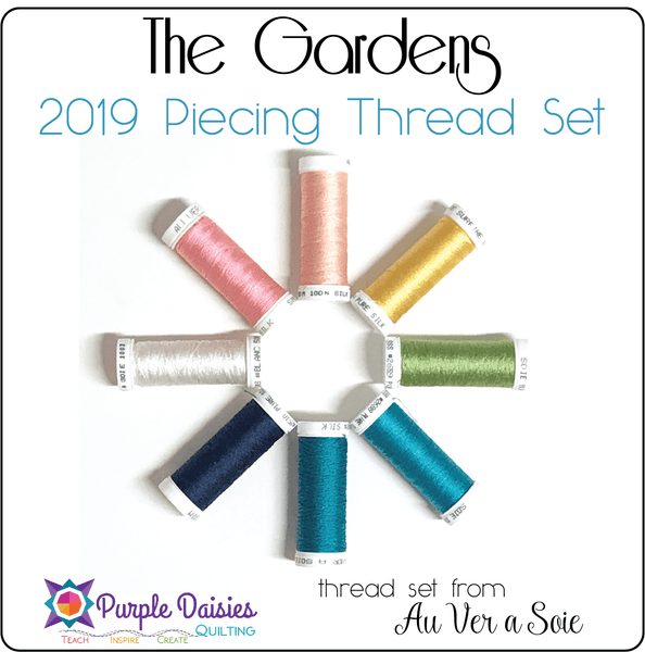 The Gardens - 2019 BOM Piecing Thread Set