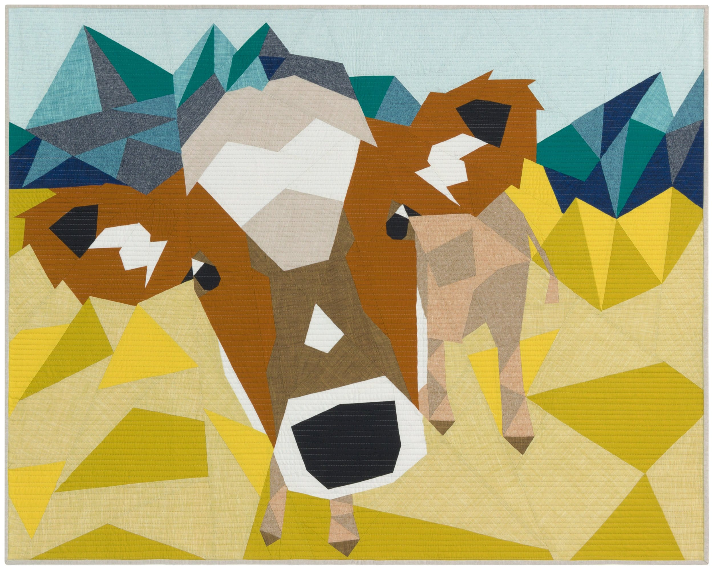 The Cow Abstractions Quilt Pattern