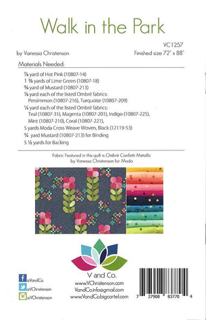 Walk in the Park - Ombre Quilt Pattern