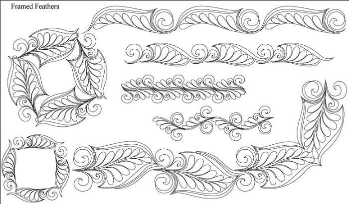 Framed Feathers Design Pack