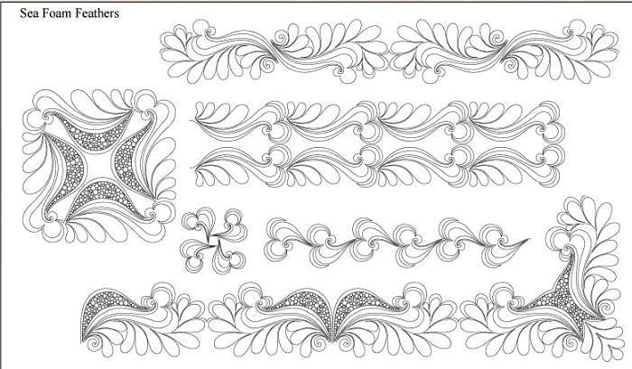 Sea Foam Feathers Design Pack