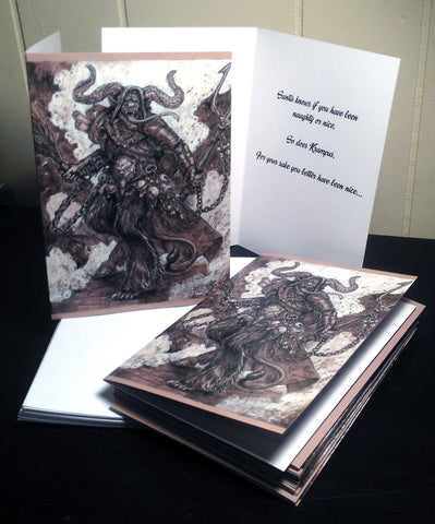 Monster Holiday Cards - Krampus - Pack of 12