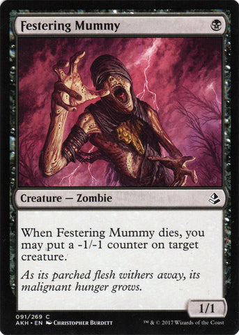 Festering Mummy Artist Proof - Magic the Gathering - Amonkhet