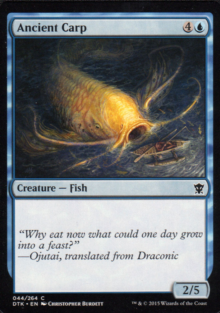 Ancient Carp Artist Proof - Magic the Gathering - Dragons of Tarkir