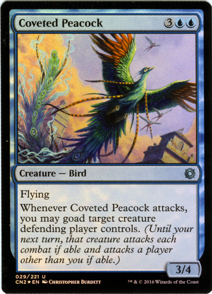 Coveted Peacock FOIL Artist Proof - Magic the Gathering - Conspiracy 2: Take the Crown