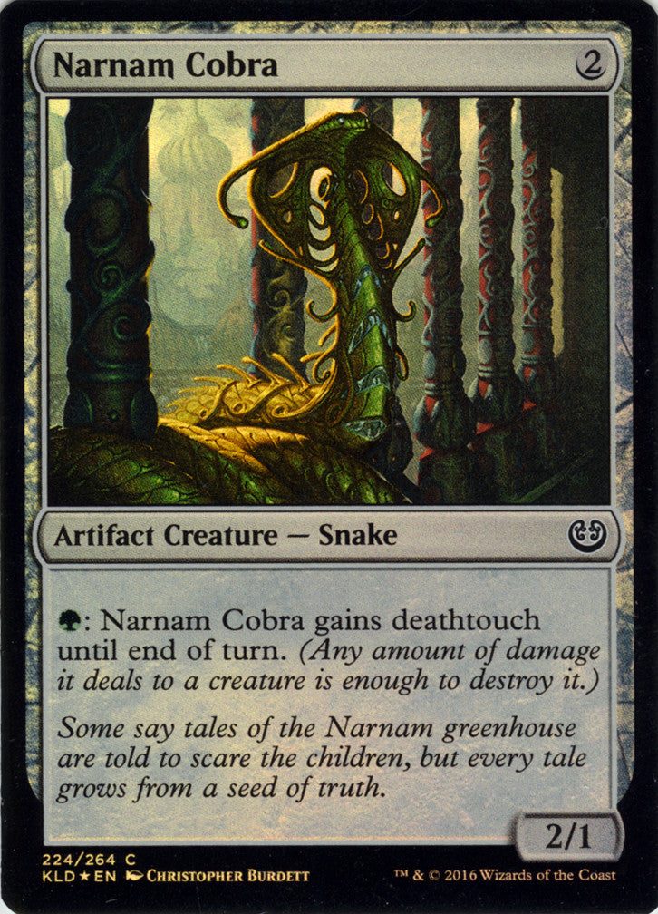 Narnam Cobra FOIL Artist Proof - Magic the Gathering - Kaladesh