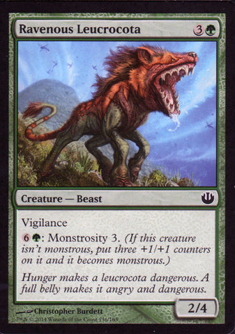Ravenous Leucrocota Artist Proof - Magic the Gathering - Journey into Nyx
