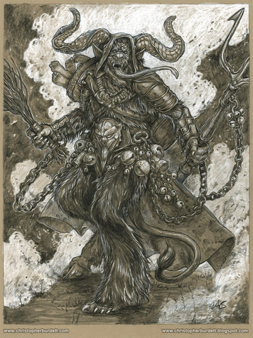 Krampus - Toned Drawing