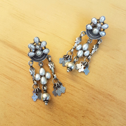 Big Boho Earrings Pearl Earrings