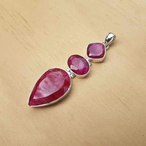 Ruby Contemporary Waterfall Pendant