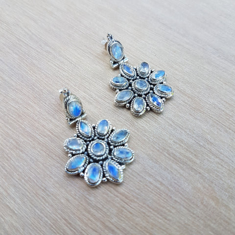 Rainbow Moonstone Luxe Stud Earrings