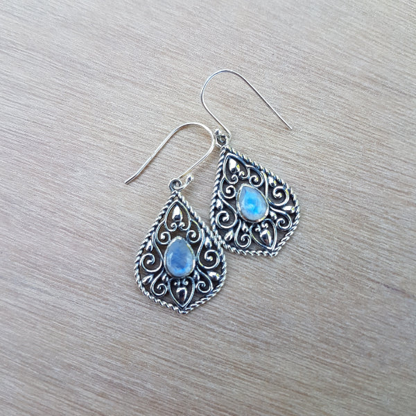 Rainbow Moonstone Edwina Earrings