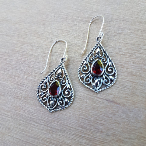 Garnet Edwina Earrings