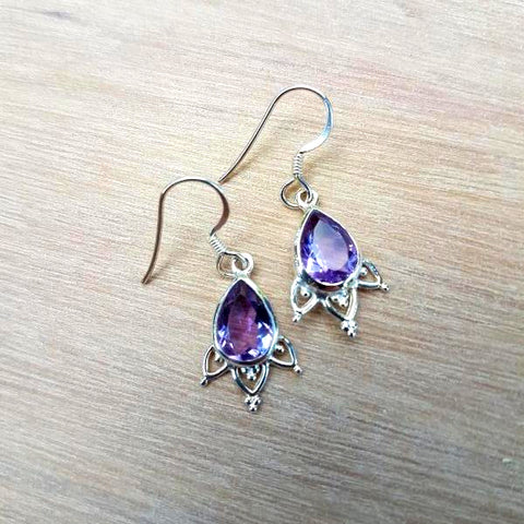 Amethyst Mini Mehindi Earrings