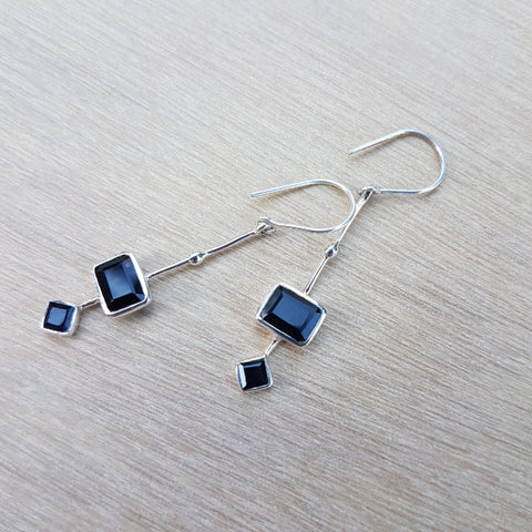 Black Onyx Modernista Earrings