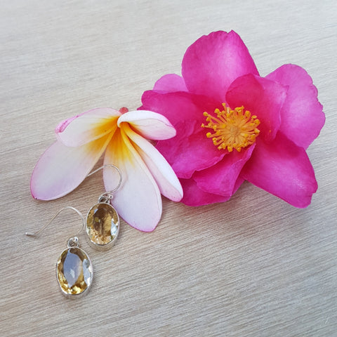 Citrine Oval Grace Earrings