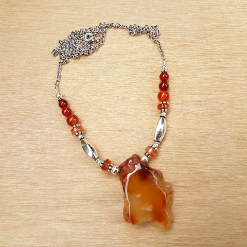Carnelian Rock Necklace