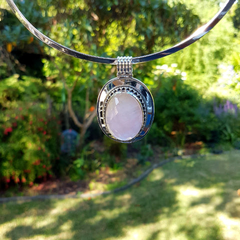 Rose Quartz Freya Pendant