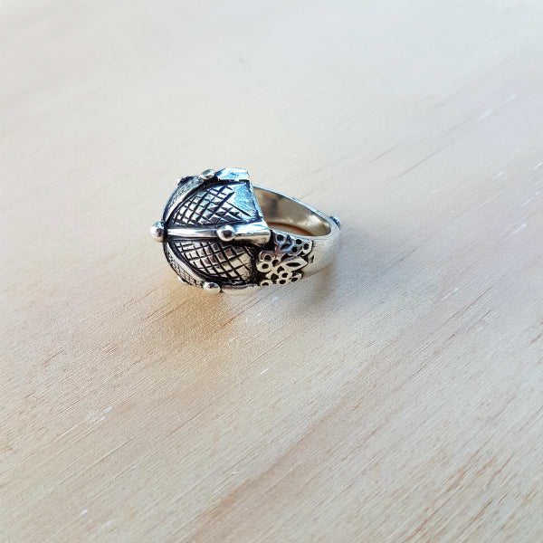 Sterling Silver Persian Design Ring