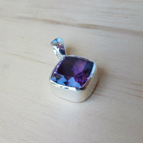 Amethyst Cushion Cut Grace Pendant