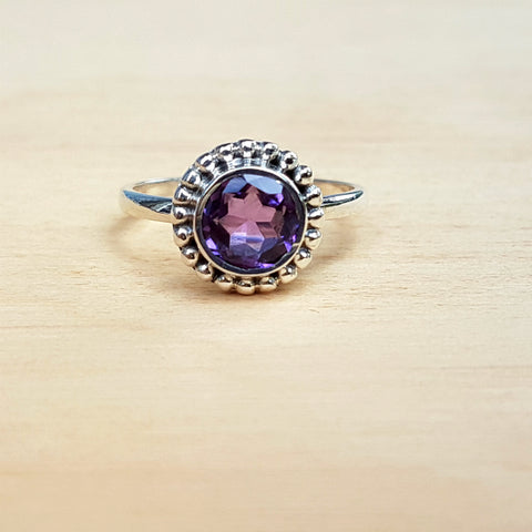 Amethyst Dotty Stacker Ring